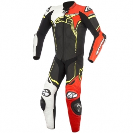 Mono Alpinestars Gp Plus V2 Suit 1PC Negro / Blanco / Rojo