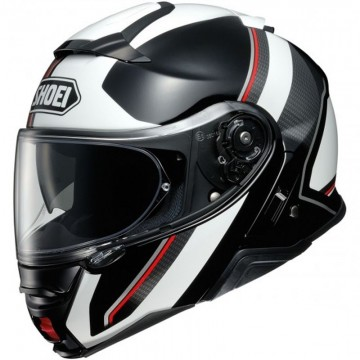 Casco Shoei Neotec 2 Excursion Negro Blanco Rojo