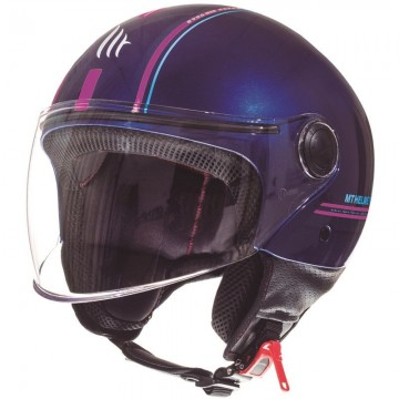 Casco MT Street Entire J4 Rosa Fluor