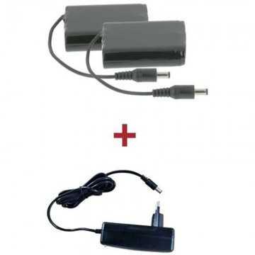Baterías y cargador V´Quattro para guantes calefactables