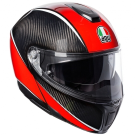 Casco Agv Sportmodular Aero Carbon / Red