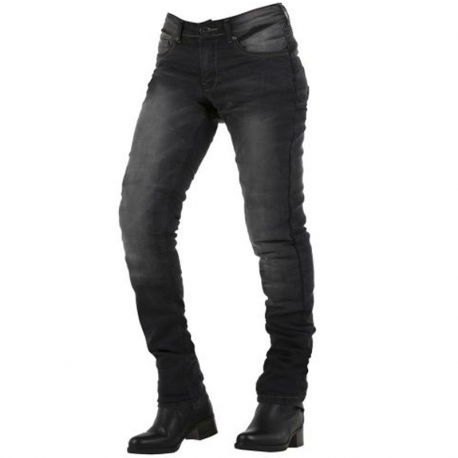 Pantalón Overlap City Lady Black Washed Homologado