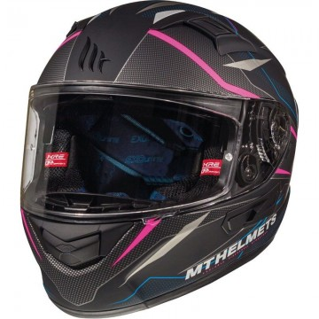 Casco MT Kre SV Intrepid Rosa Fluor