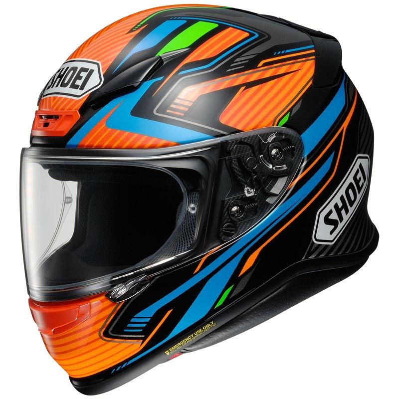 Casco Shoei NXR Stab TC8 Naranja / Azul