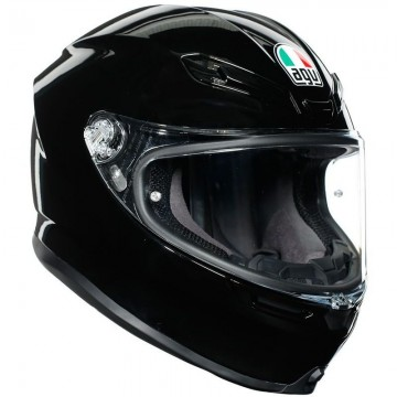 Casco Agv K6 Negro Brillo