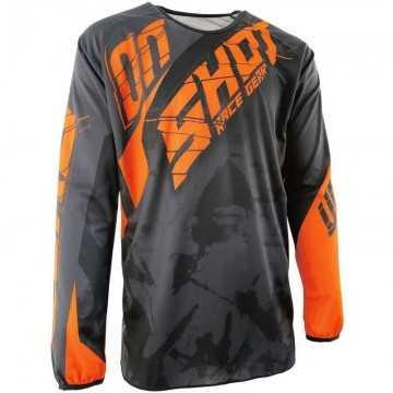 Camiseta Shot Devo Squad Gris / Naranja