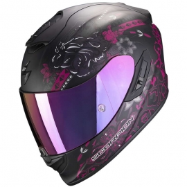 Casco Scorpion Exo 1400 Air Toa Negro Mate / Rosa