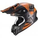 Casco Scorpion VX-16 Mach Negro / Naranja