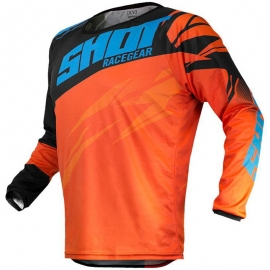 Camiseta Shot Devo Kid Ventury Orange Cyan