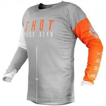 Camiseta Shot Aerolite Alpha Grey Orange