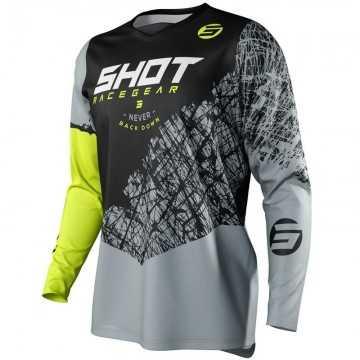 Camiseta Shot Devo Storm Amarillo Fluor